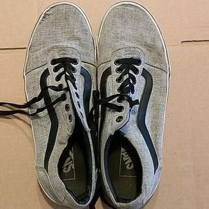 Vans grey tennis shoes Size 10